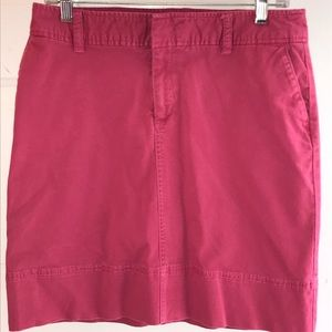 Soft Rose pink denim cotton short skirt